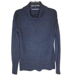 Athleta Cowl Neck Sweater Dark Charcoal Gray Small